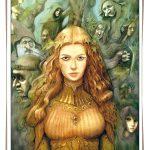 illustration d'elfes de fée et de gnomes dans une forêt enchantée. Illustration réalisée par Godo. Site : godo art. illustrateur fantasy