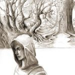 illustration-fantasy-godo-0071-WalkingElfInTheForest