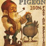 illustration-fantasy-godo-0075-Vintage-Affiche-Homing-Pigeon-Gnome
