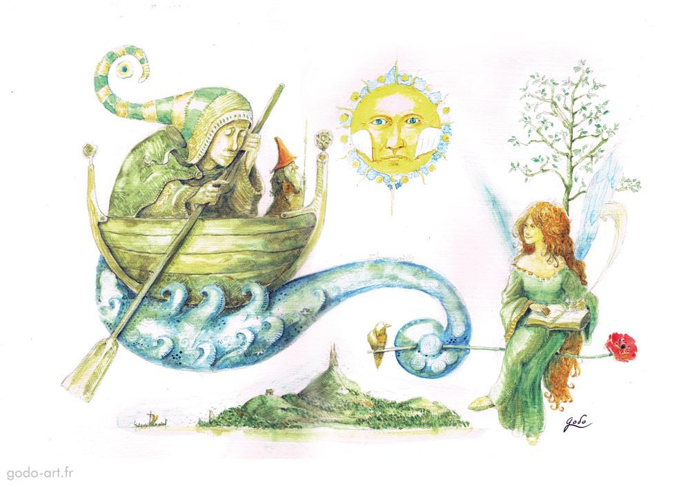 messager de feerie, onirique fée et gnome