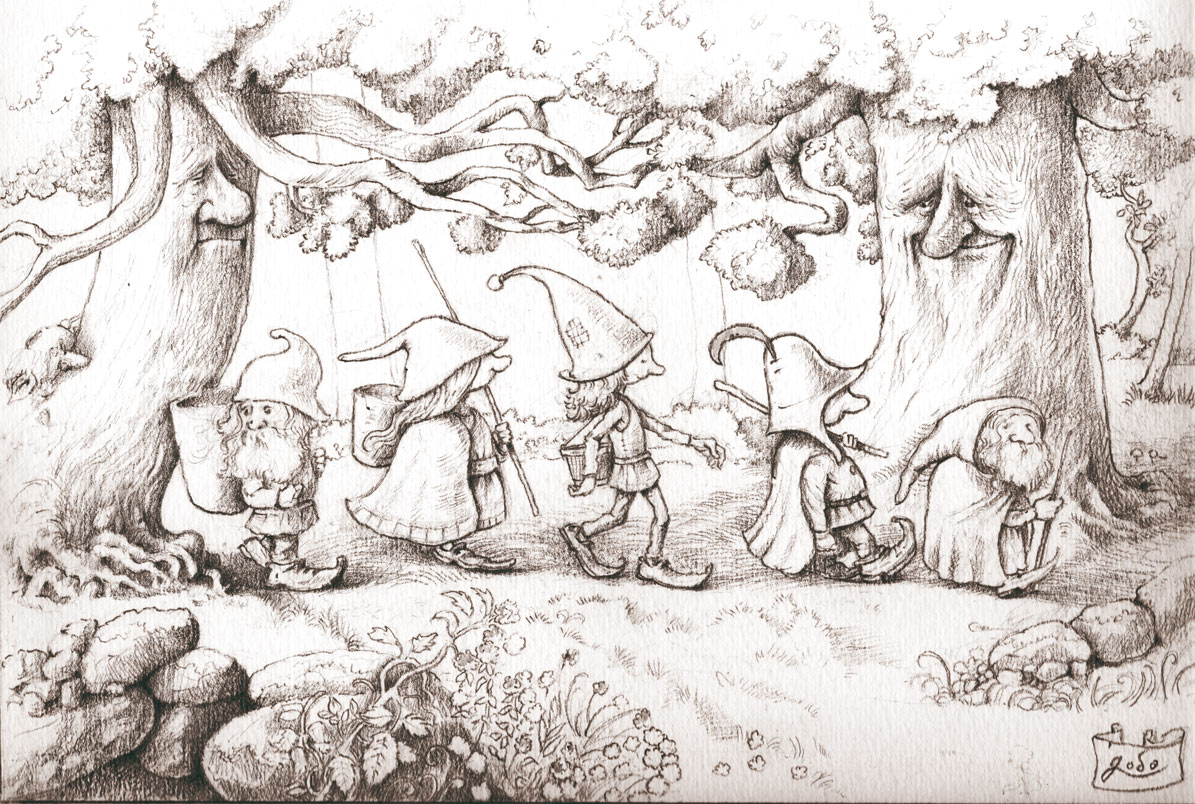 dessin de gnome