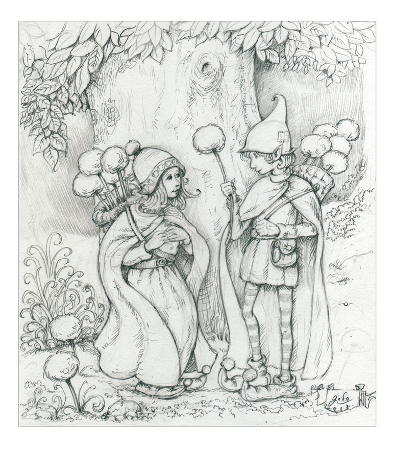dessins d'elfes -by godo