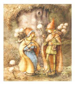illustration d'elfe et d'elfette