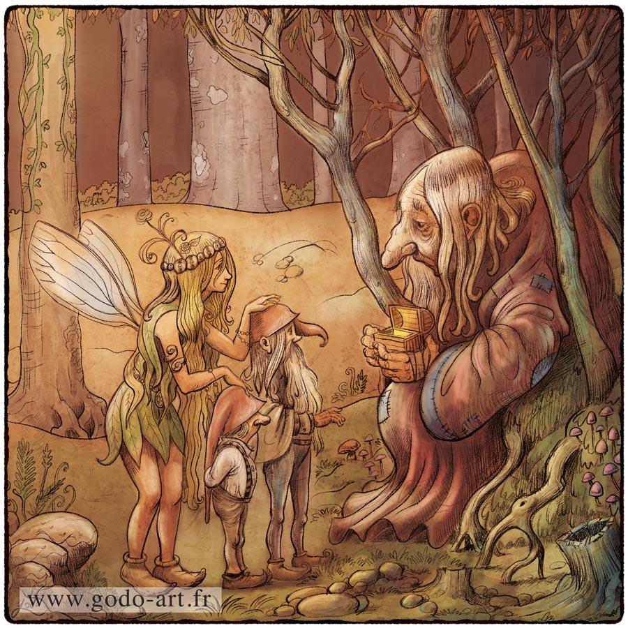 illustration de fée, lutins et autres créatires féeriques