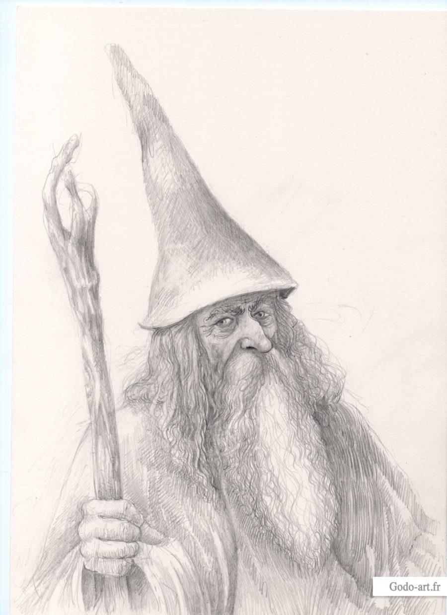 portrait gandalf