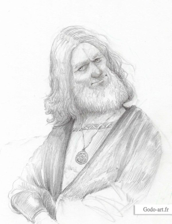 dessin portrait de noble
