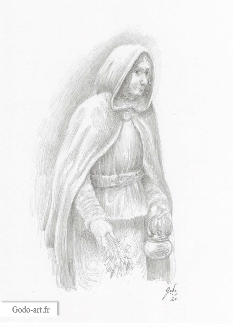 dessin d'un rodeur dunedain