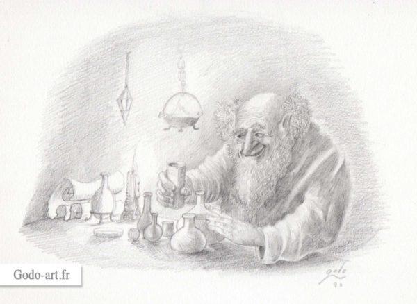 illustration d'alchimiste