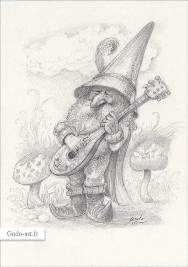 gnome musicien