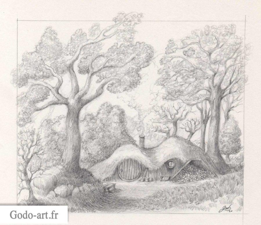 dessin trou de hobbit