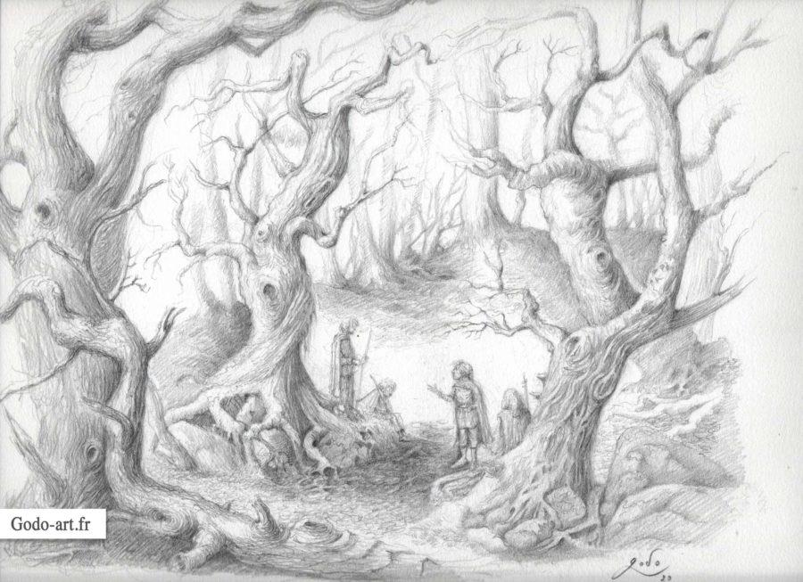 hobbits perdu dans la foret tortueuse