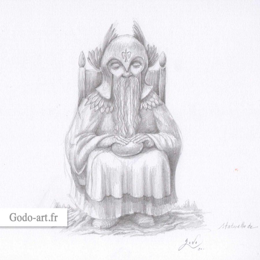 statuette de Manwë le Valar