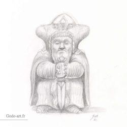 Statuette Nàmo (Mandos) le Vala
