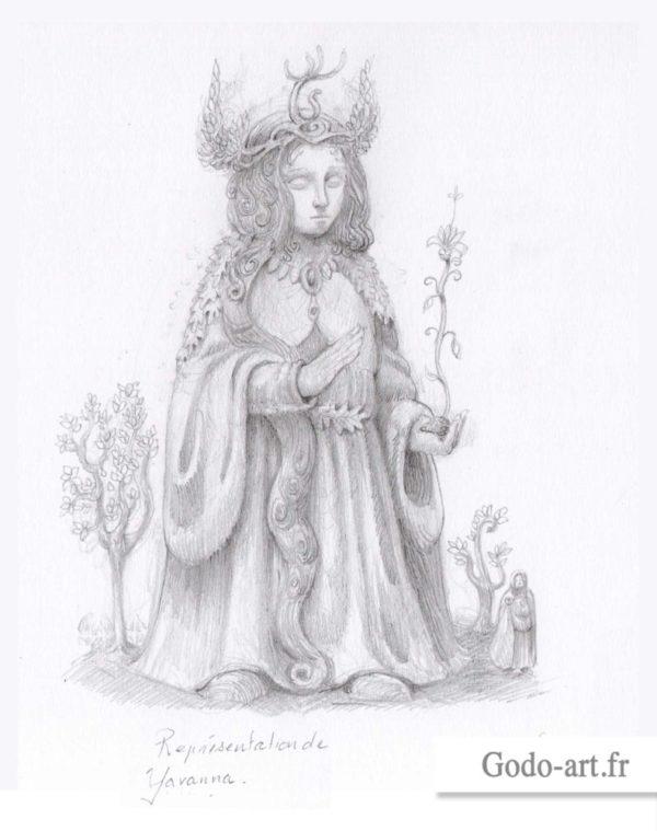 dessin de yavanna la valier ou valar